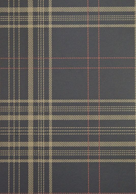 Rakel plaid wallpaper charcoal and brown plaid wallpaper with red window check £67