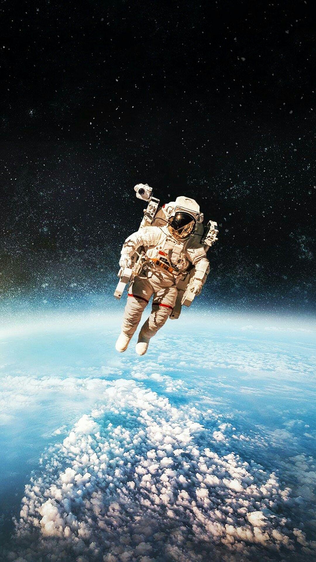 бросил картинка космос и человек вертикально объединяются почве