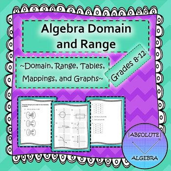 Algebra Domain and Range Scrambled Answers | Algebra, Ranges and Math