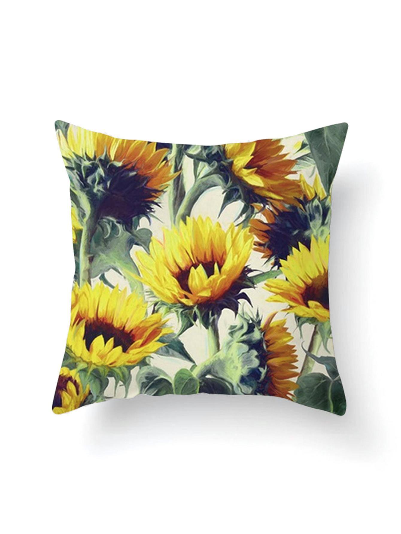 Shein  Shein Sunflower Print Pillowcase Cover  Adorewecom