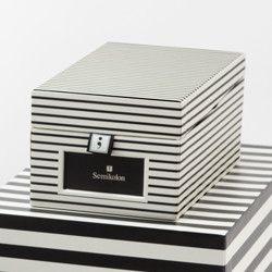 Semikolon business card box in stripe contemporary storage boxes box semikolon business card colourmoves