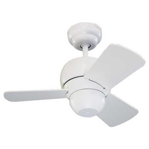 Perfectly Sized Mini Fan For That Small Space Monte Carlo Fans Compact 24 Inch Ceiling Fan With Three Blades Ceiling Fan Modern Ceiling Fan White Ceiling Fan