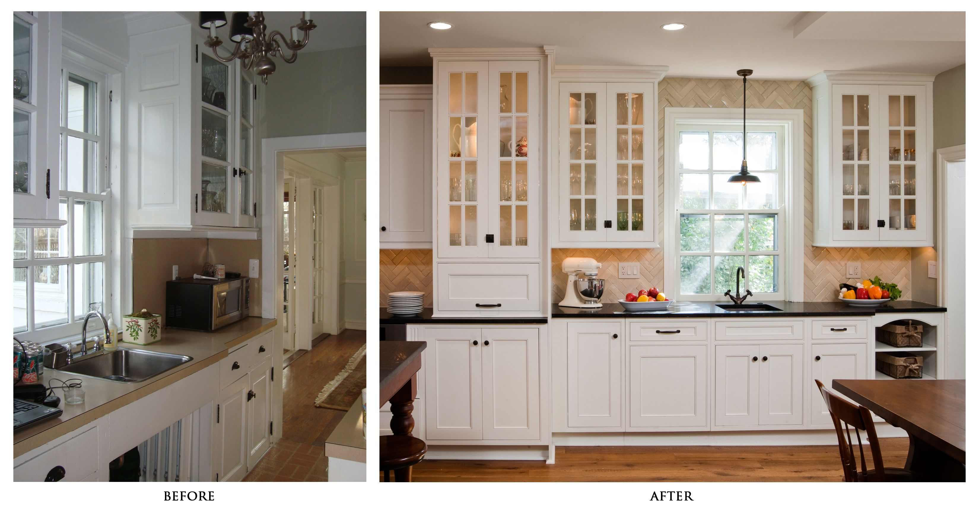 remodeled kitchen photos before and after | during the remodel below ...