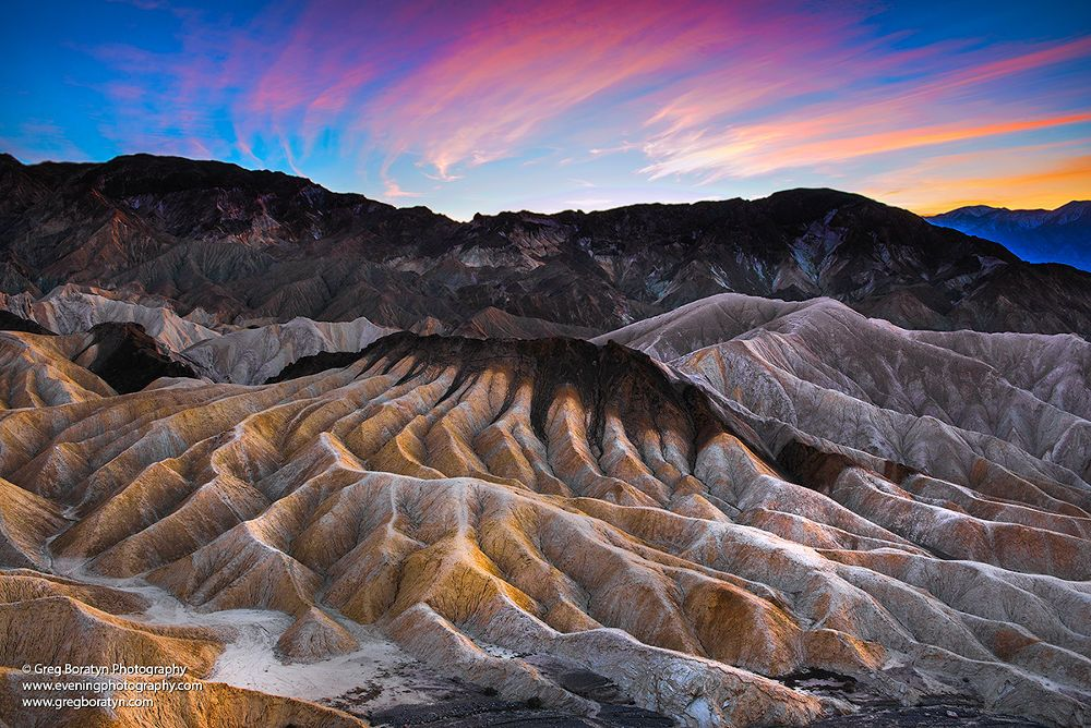 Zabriskie Point, Death Valley. by Gregory Boratyn
