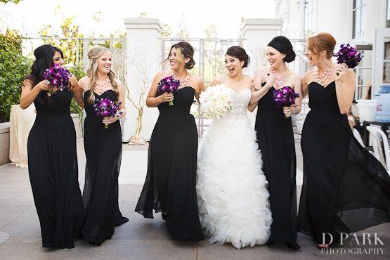 Black And Purple Wedding I Really Like These Dresses Wedding