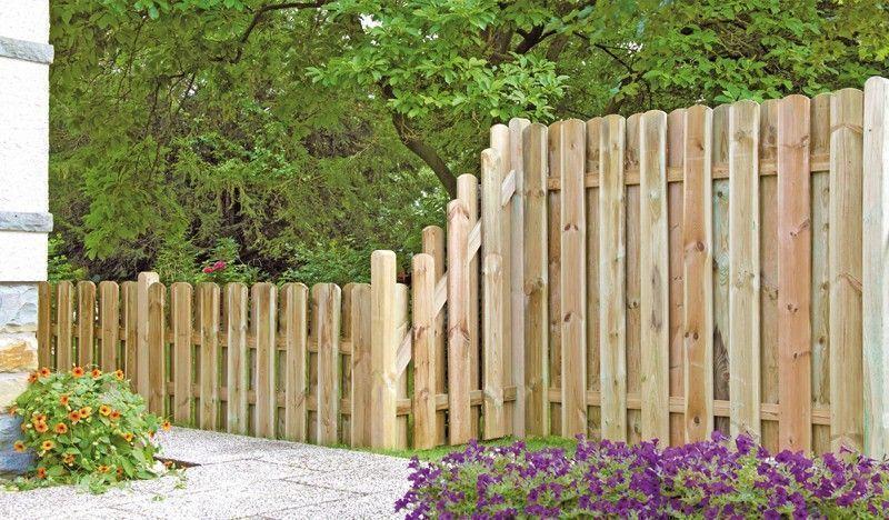 Massiver Sichtschutz aus Holz! Gartenzaun holz