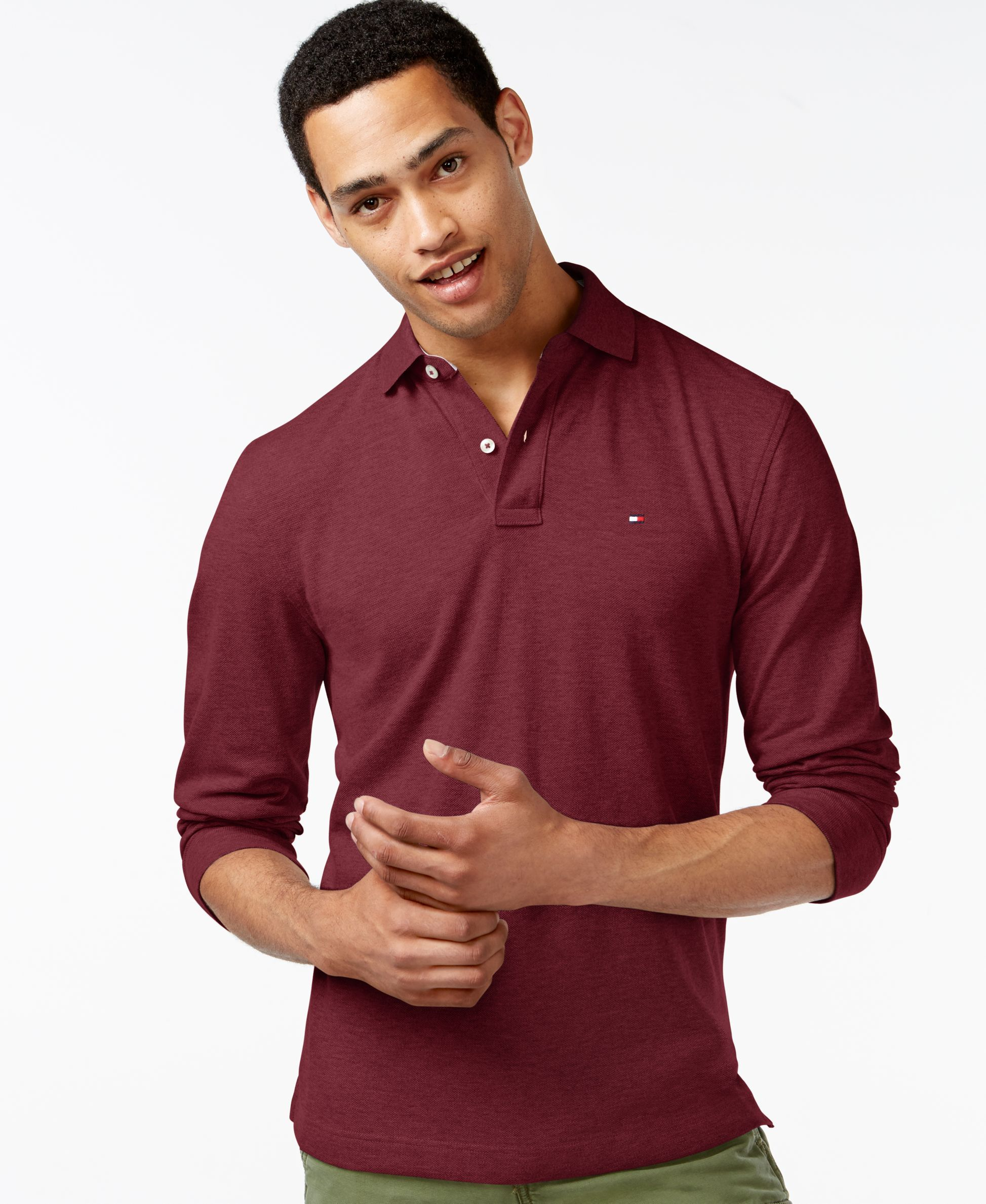 02efda81 Tommy Hilfiger Long-Sleeve Classic-Fit Polo   Products   Tommy ...