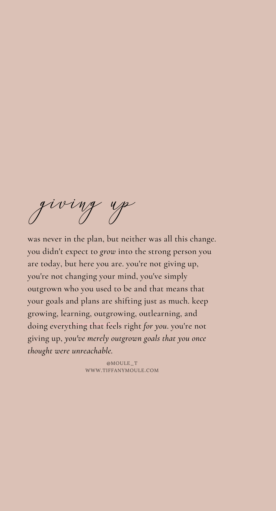 You're not giving up - You're growing up #quote #quoteoftheday #growth #goals