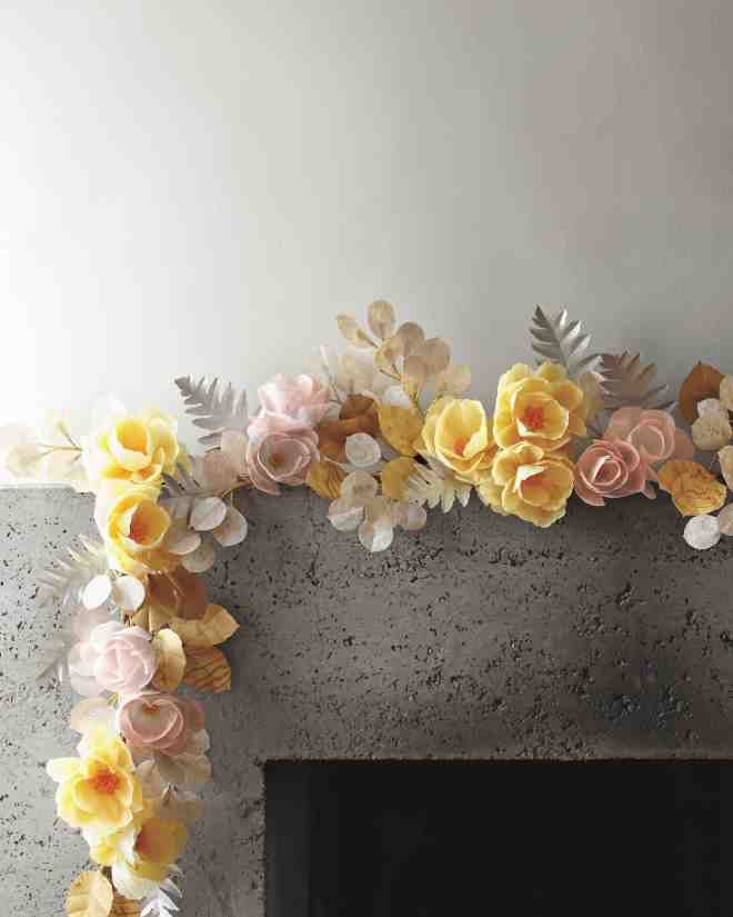 Paper Flower Garland   DIY Paper Flowers