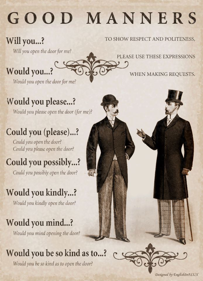 Good Manners-Not only will you sound more refined, it is polite to act as if this person is more important than you and you are requesting them, not acting as if they are yours to order around.