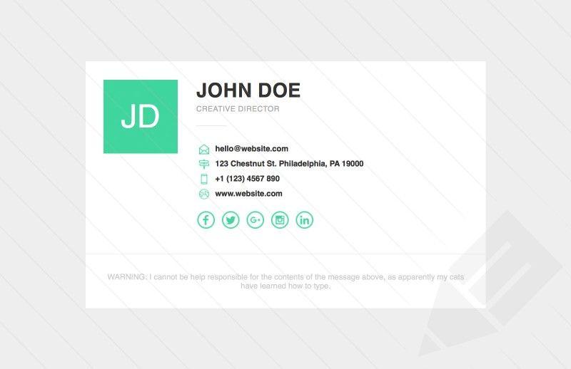 Responsive Email Signature Template  Email Signature Templates