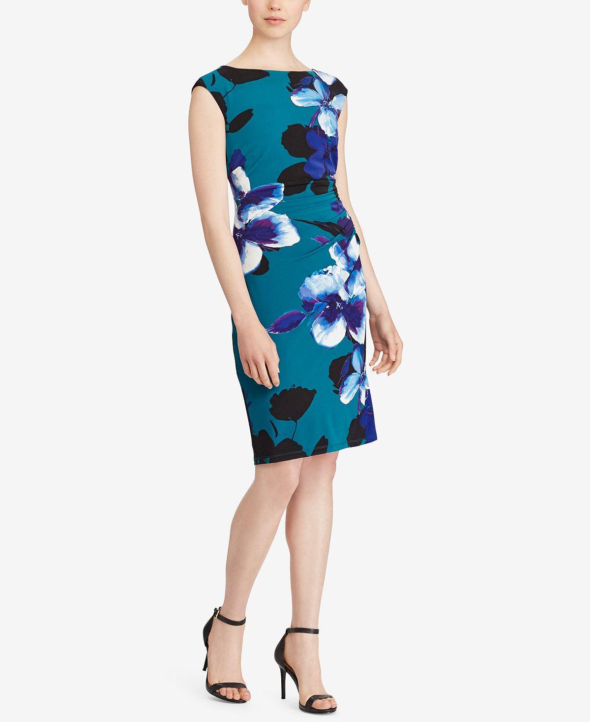 Lauren ralph lauren floralprint jersey dress dresses