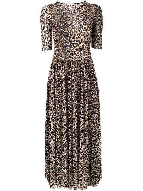 Ganni tiered maxi dress