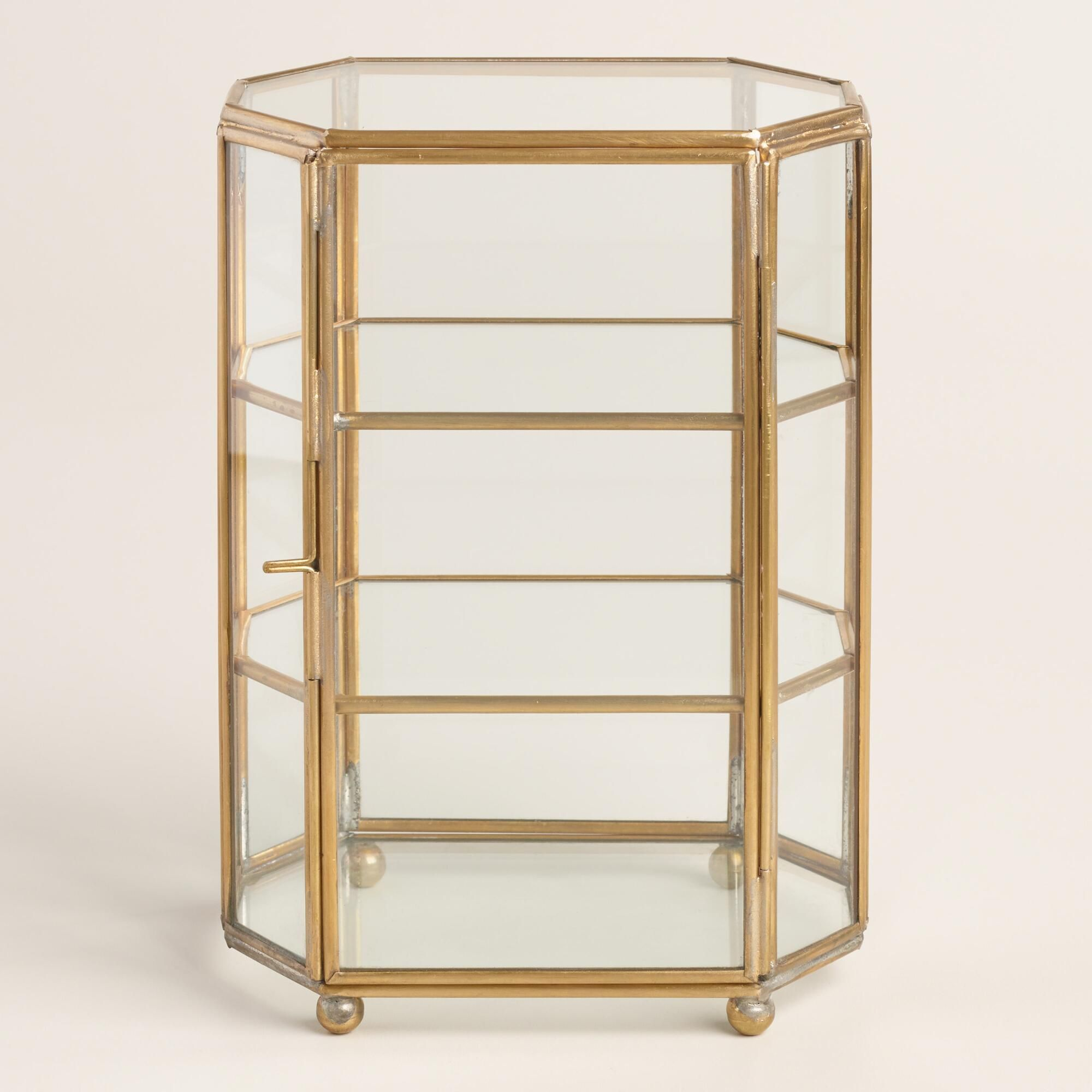 Put Your Trinkets And Treasures On Display In Our Cabinet Shaped Curio Box Crafted