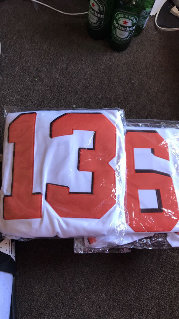 the latest f31a4 32a40 Small white Cleveland Browns jerseys Odell Beckham/Baker ...