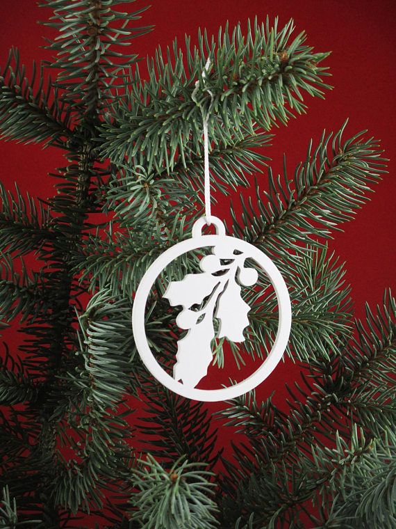 Natural Wooden Animals Ornaments Wood Christmas Decoration White - wood christmas decorations
