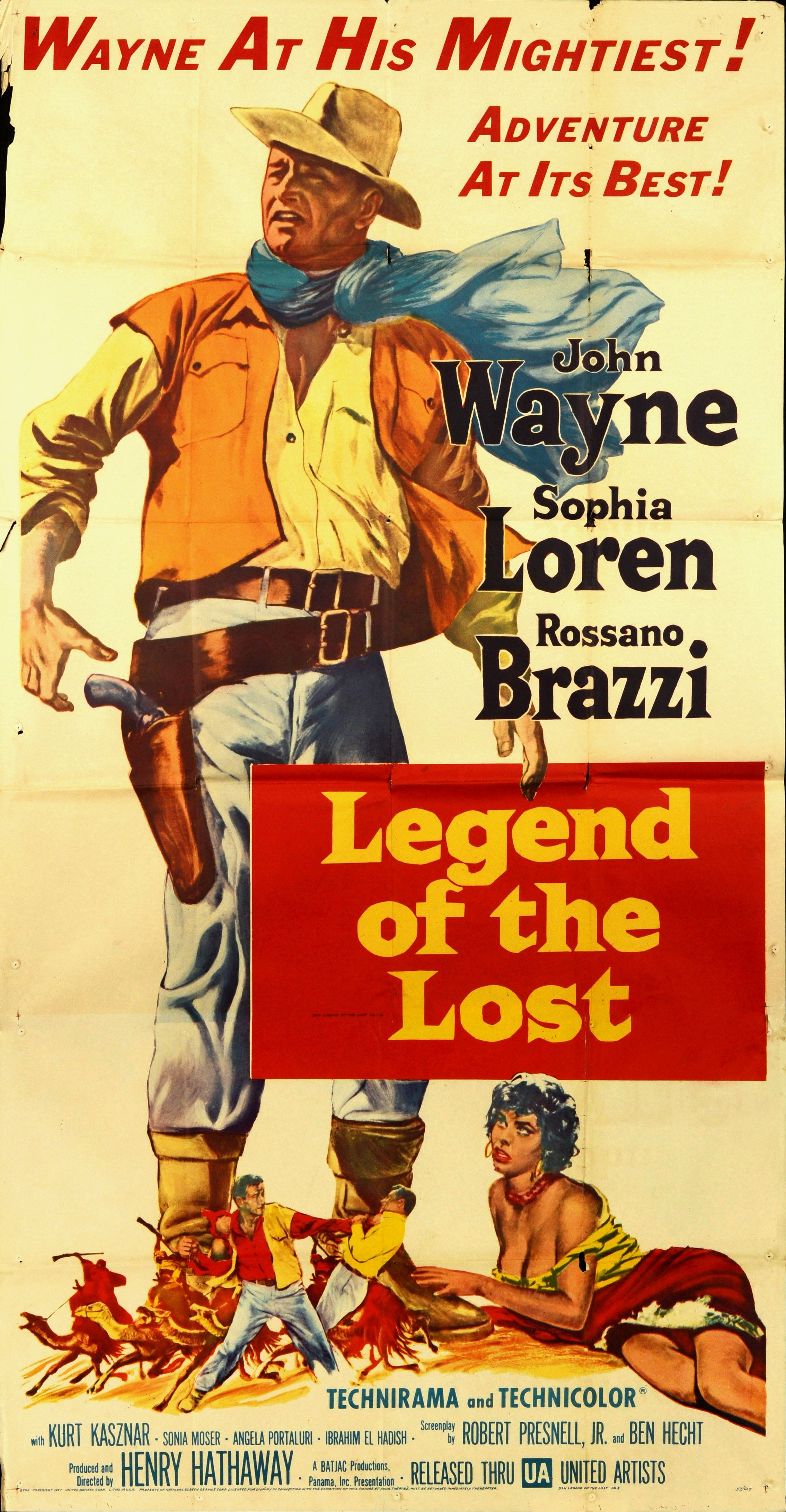 Legend Of The Lost 1957 Orig Movie Poster 3sheet Jwayne Classic Movie Posters Old Movie Posters Movie Posters Vintage