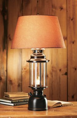 White River Large Lantern Table Lamp Lantern Table Lamp Rustic