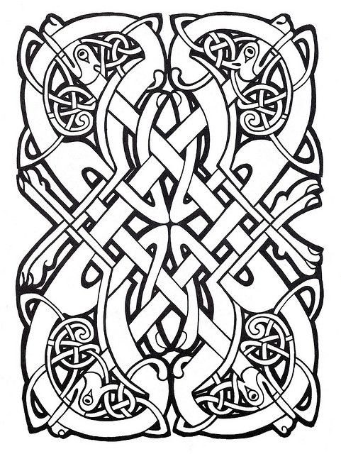 Poker I Was Inspired This Celtic Design For My Swan Pattern As