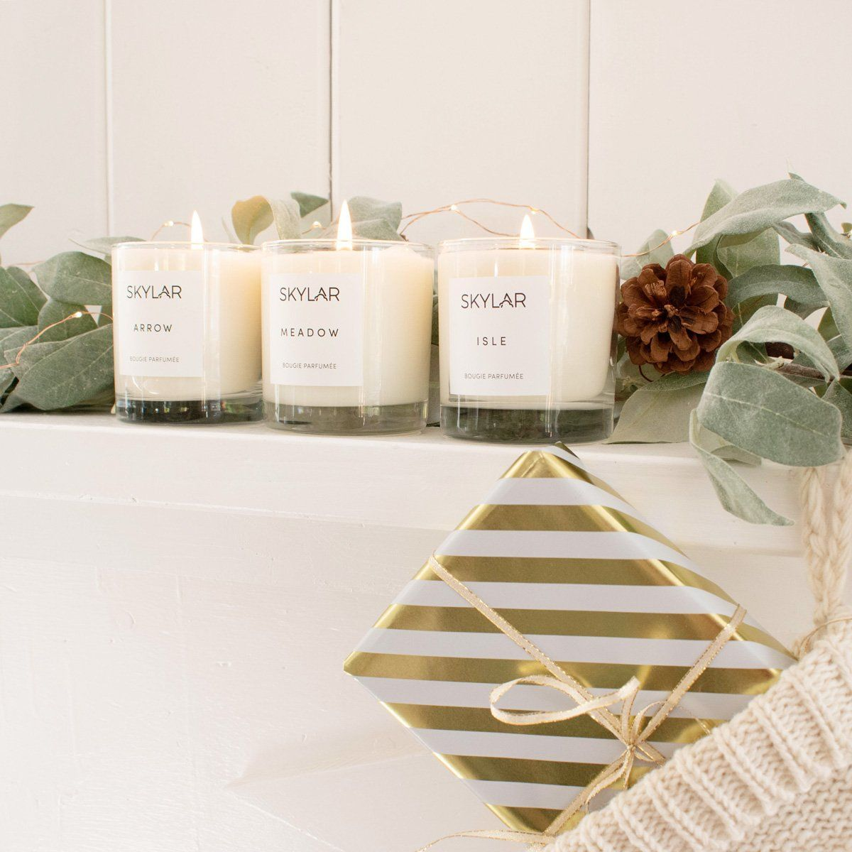 Holiday Candle Trio   Holiday candles, Candles, Natural ...