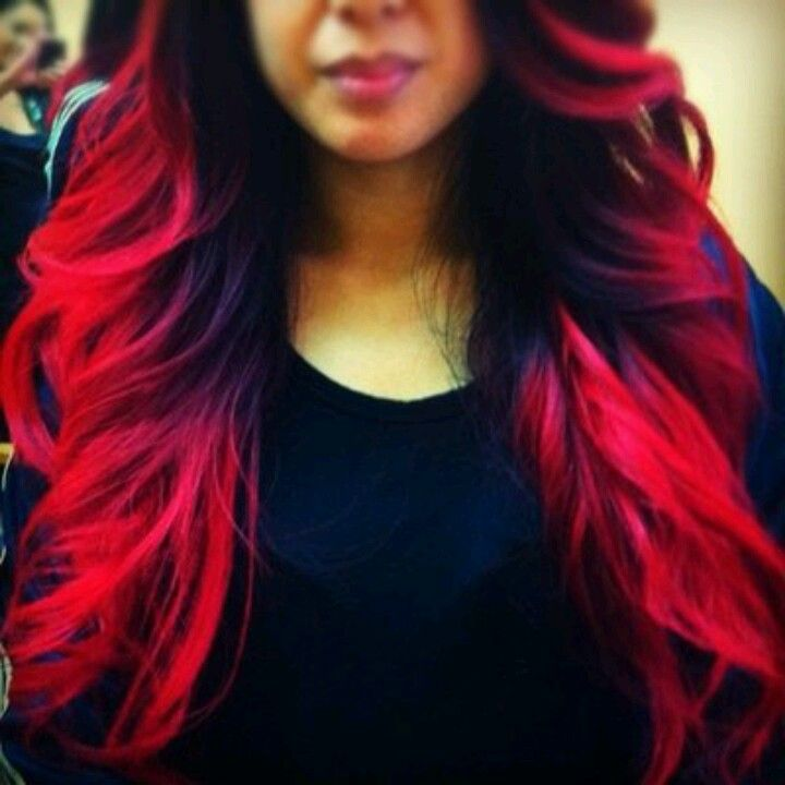Too Bright Red Pink But Love The Fade Hair Styles Ombre Hair Balayage Hair