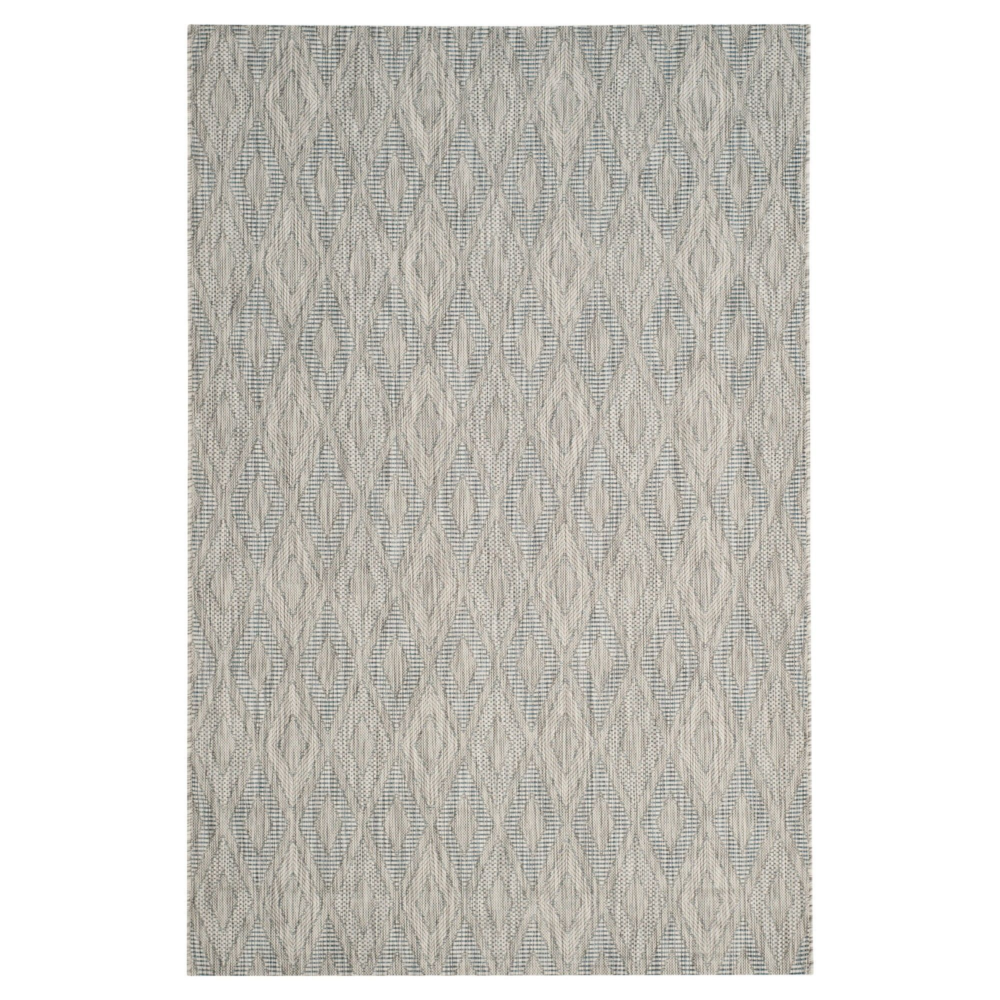 Bolton Square 6 7 X Outdoor Patio Rug Gray