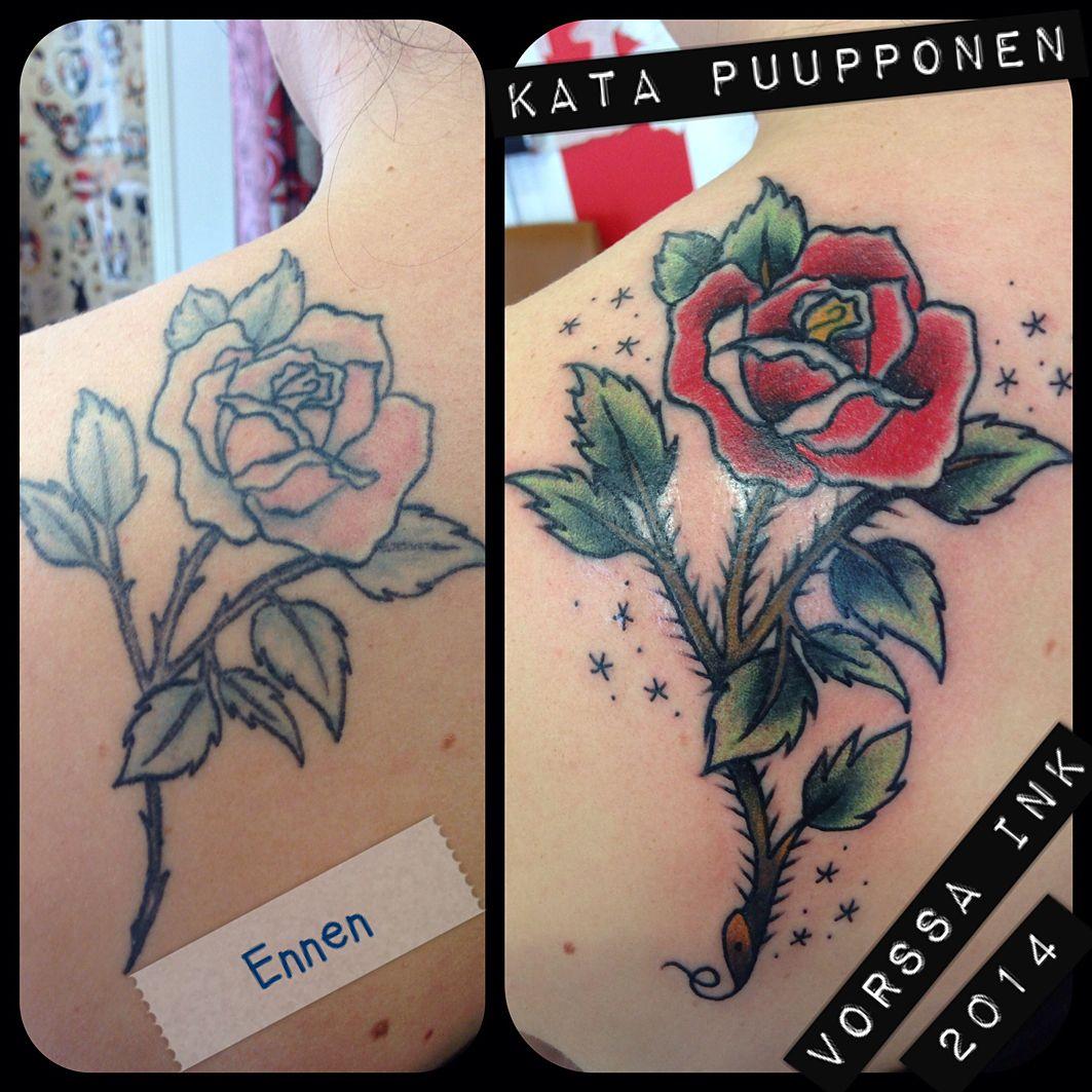https://www.facebook.com/VorssaInk, http://tattoosbykata.blogspot.fi, #tattoo #tatuointi #katapuupponen #vorssaink #forssa #finland #traditionaltattoo #suomi #oldschool #pinup #rose #coverup