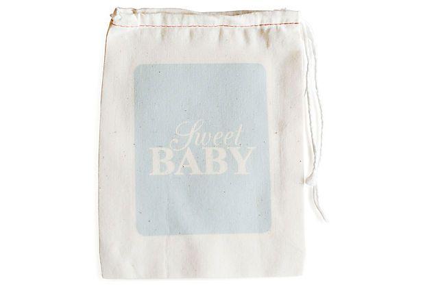 S/6 Sweet Baby Favor Bags, Blue on OneKingsLane.com