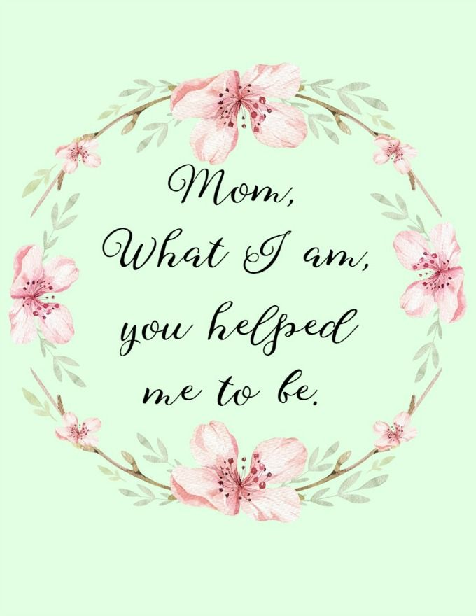 Mother\'s Day Quotes Free Printable Artwork | Best of Glue ...