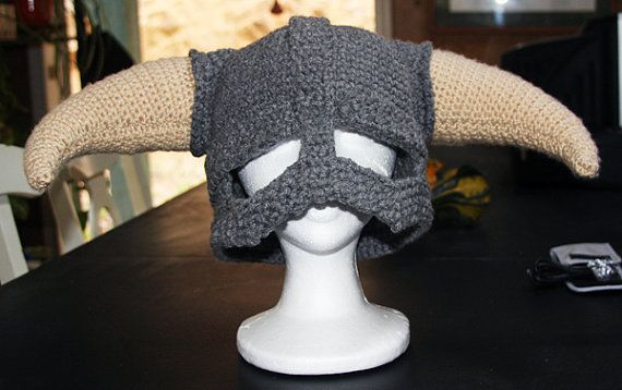 CROCHET PATTERN PDF for Skyrim Inspired Viking helmet | Lana