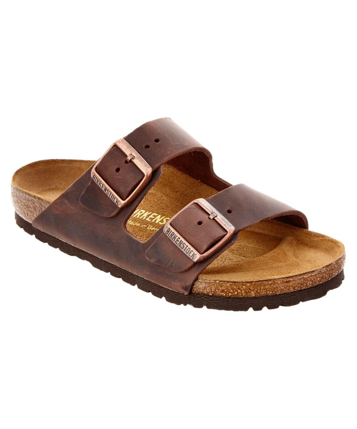 Shop BIRKENSTOCK Womens Arizona Two-Strap Narrow Synthetic Sandals ... 62835b665