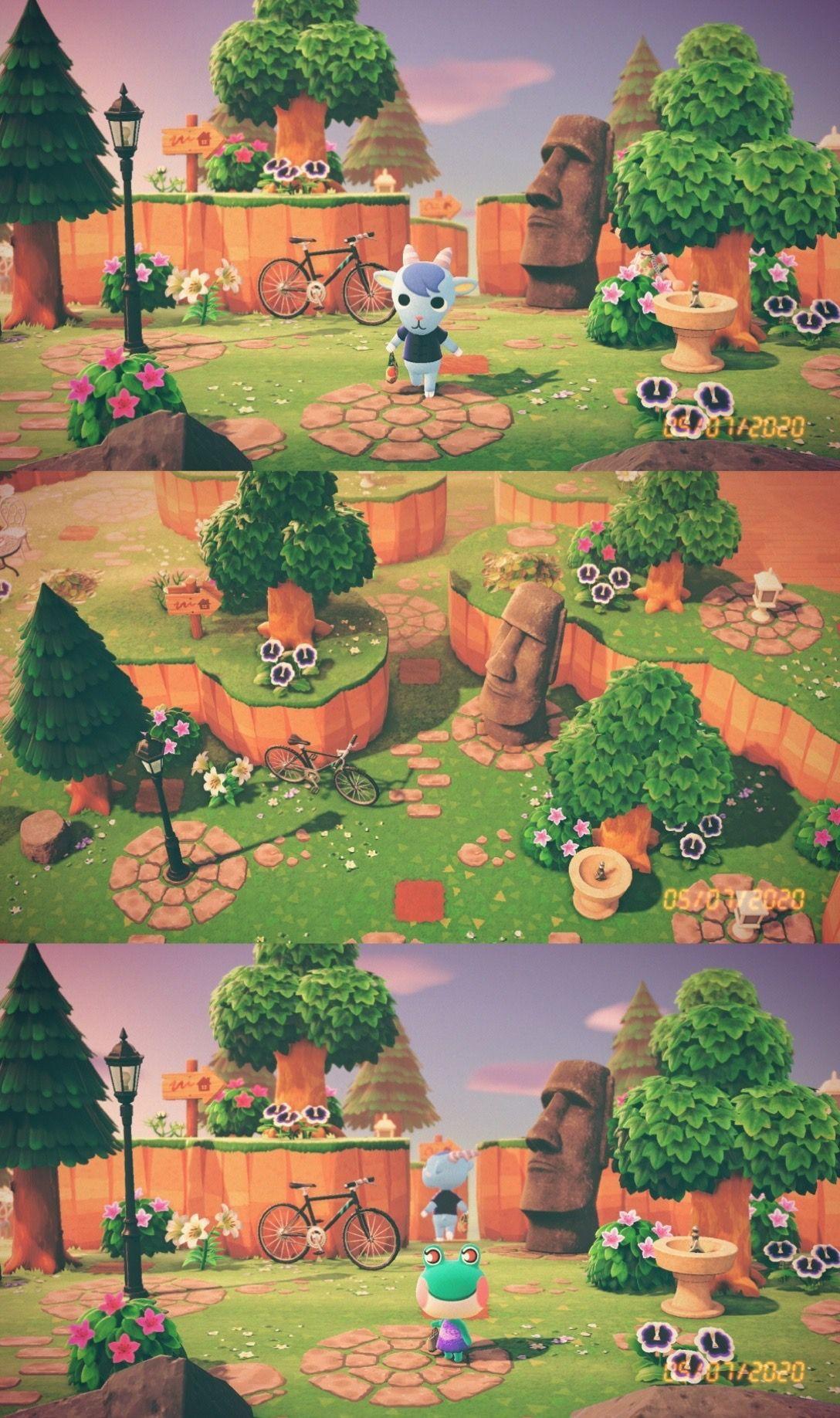 Acnh Kaspar Island Entrance Idea Circular Stone Custom Path Design By Vee Acnh Island Path Designs In 2020 Animal Crossing Animal Crossing 3ds Animal Crossing Guide