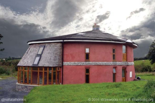 The spiral house - straw bale, built by volunteers