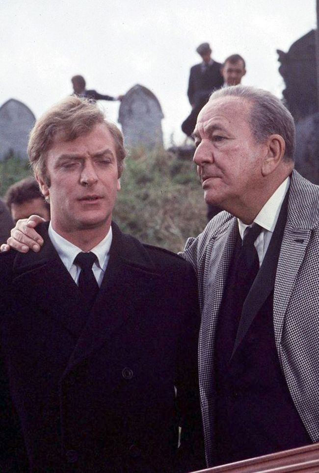 Michael Caine and Noël Coward in THE ITALIAN JOB (1969)