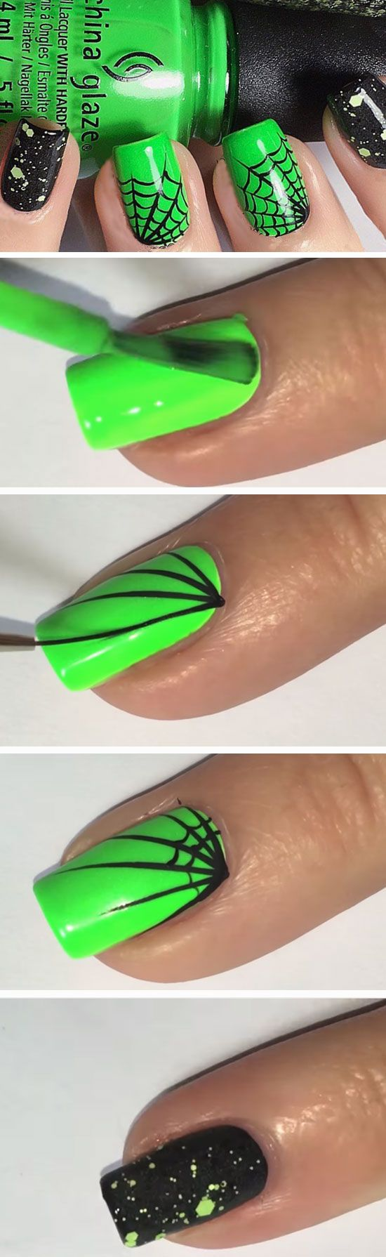 23 Easy Halloween Nail Art Ideas for Teens | Ideas de arte en uñas ...