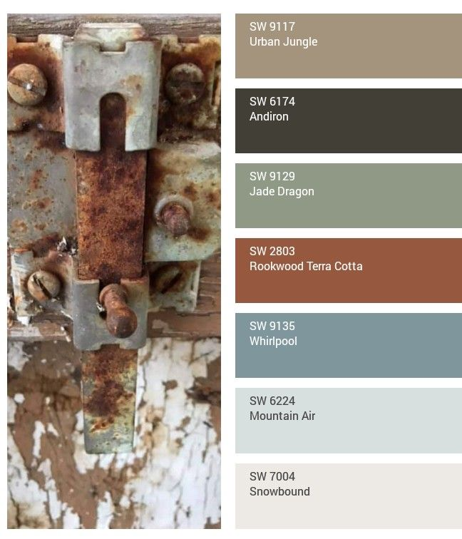 rusty lock reclaimed door color inspiration sherwin on rustic cabin paint colors id=81371