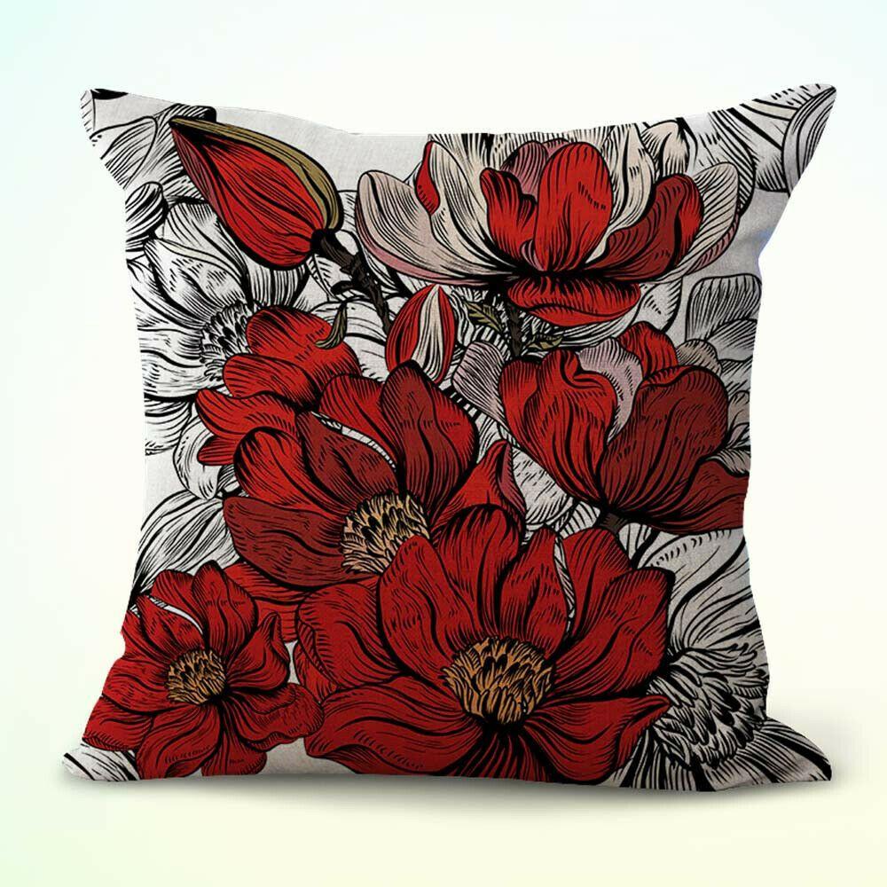 US SELLER pillow cases decorative Art Nouveau floral cushion cover