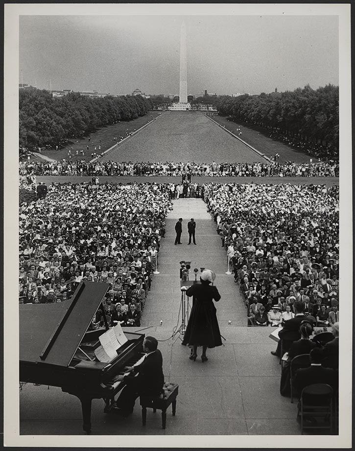 Marian Anderson at the Lincoln Memorial, Washington, DC
