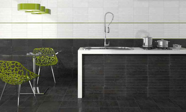 Formatos 20x40 oxido estancias cocinas elegante y moderna - Cenefas cocinas modernas ...