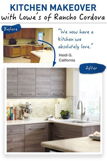Kitchen Makeover With Lowe's Of Rancho Cordova.