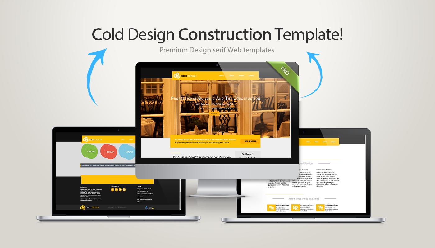 Cold Design Serif Webplus Template | Serif and Template