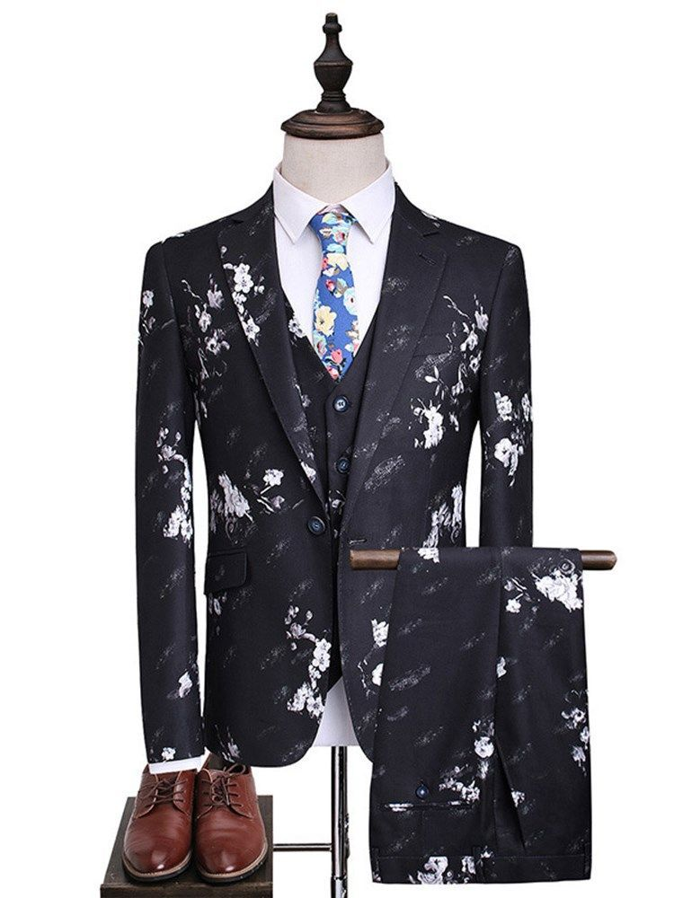 Blazers Responsible Star Print Slim Fit Suit Jacket 2019 Brand New Male Club Stage Blazer Man Formal Wedding Suit Prom Blazers For Men Costume Homme
