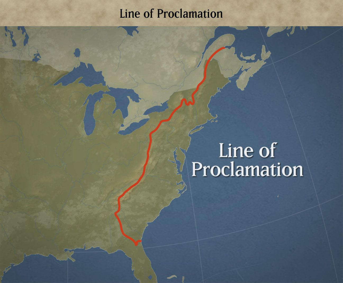 Proclamation Of No Colonial Settlement Was To Be