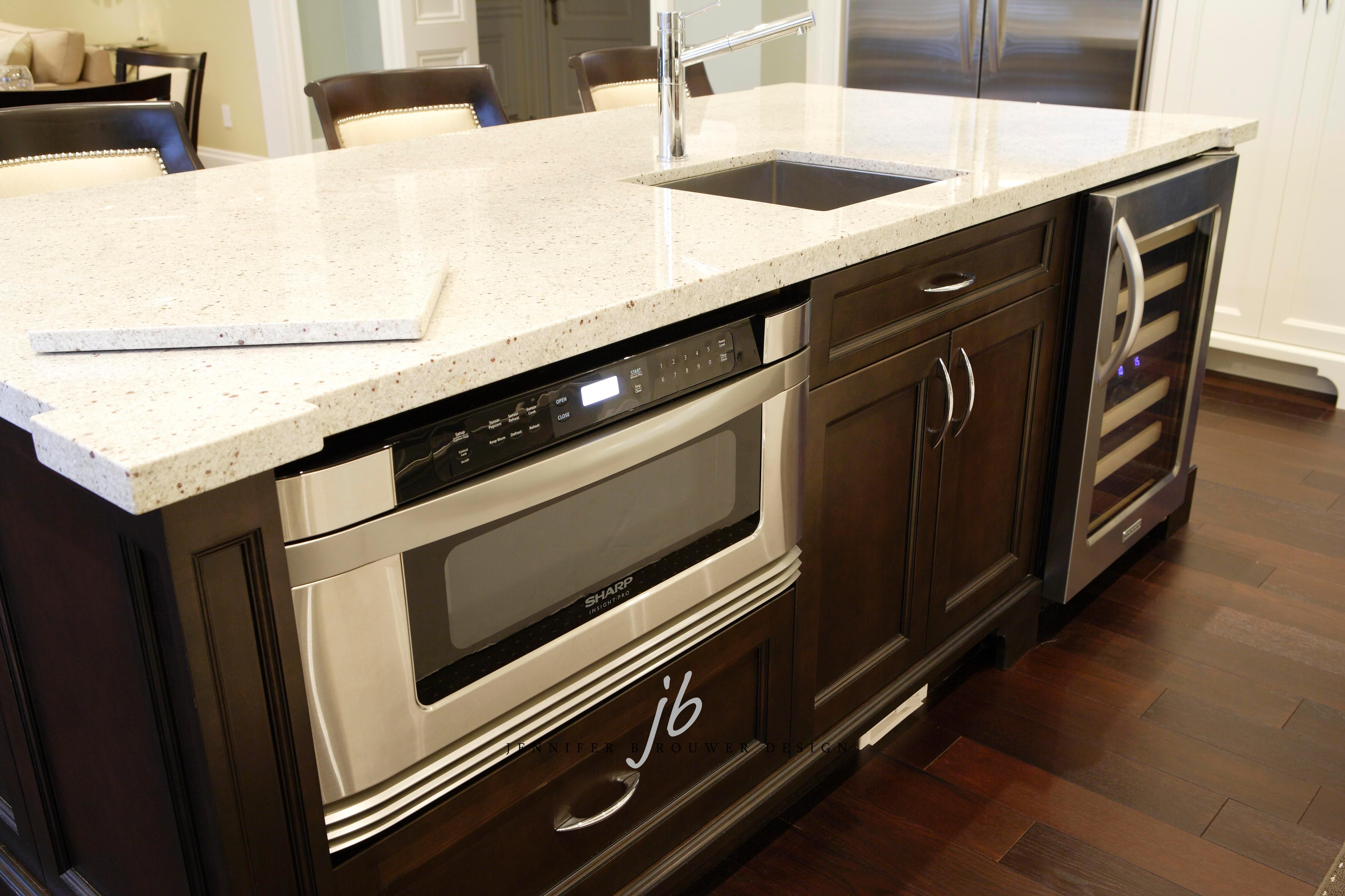 jbd kitchen island design incorporating a microwave convection oven belowcounter microwave oven spacesaving kitchen design clever kitchen ideas kitchen