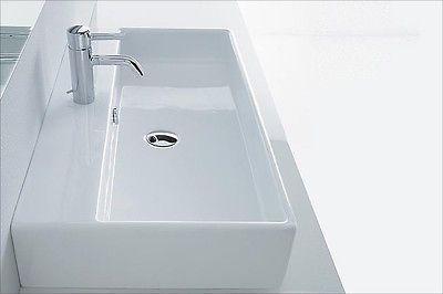 Aufsatzwaschbecken Aufsatz Waschtisch Waschbecken Eckig 80 X 42 Cm
