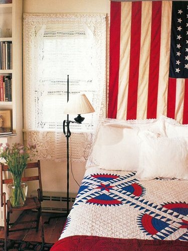 Vintage Country Living: A Patriotic Guest Bedroom | Floor lamp ... : country living quilt - Adamdwight.com
