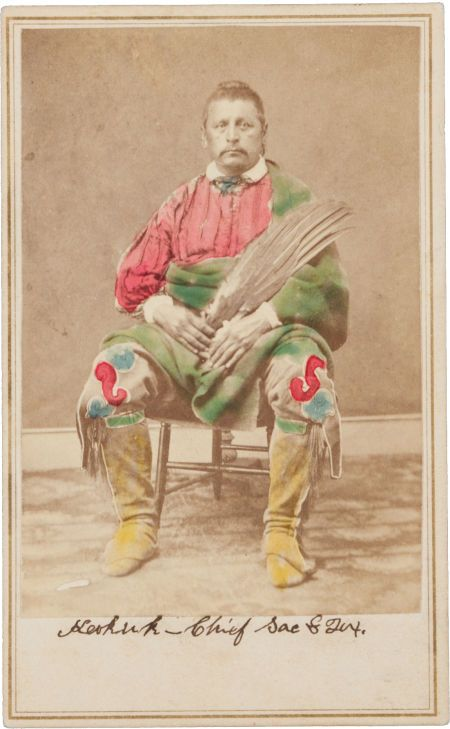 Carte De Visite Chief Keokuk Sac Fox By A W Barker