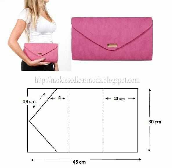 COMO CORTAR SACO E POCHETE-2 | Сумки | Sewing, DIY Clutch y Diy bags