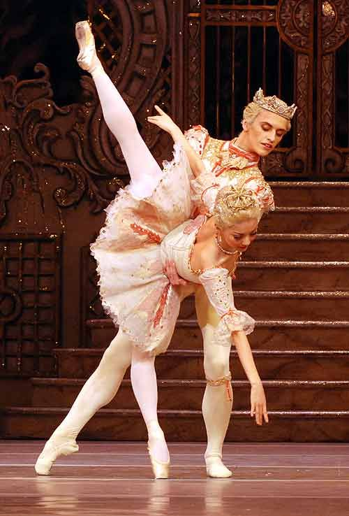 Yuhui Choe and Sergei Polunin of the Royal Ballet, as the Prince and the Sugar Plum Fairy in The Nutcracker.