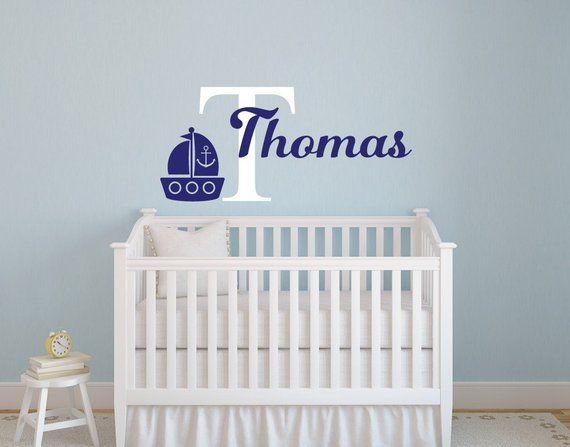 Nautical Nursery Decor Wall Boy Name